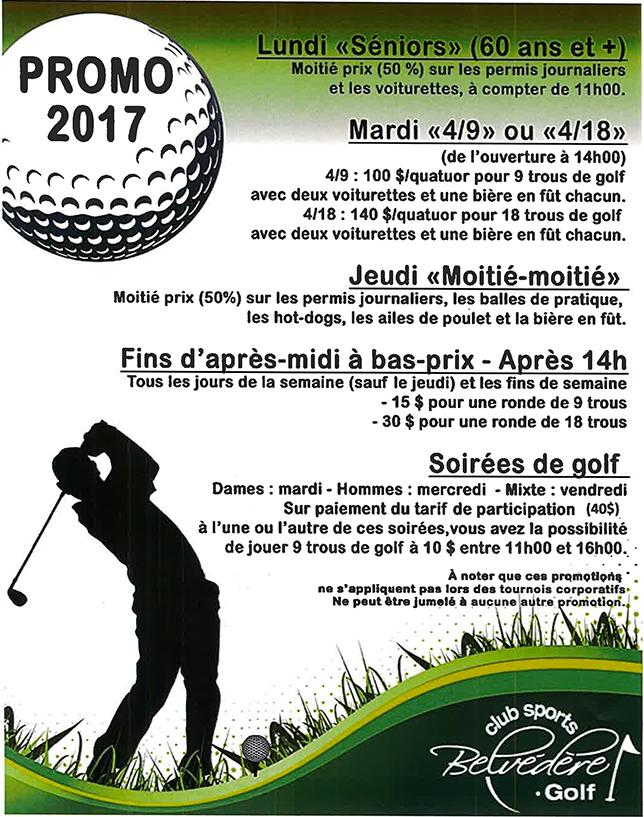 Promotion golf