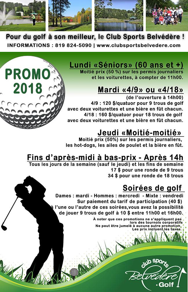 Promotion Golf 2018