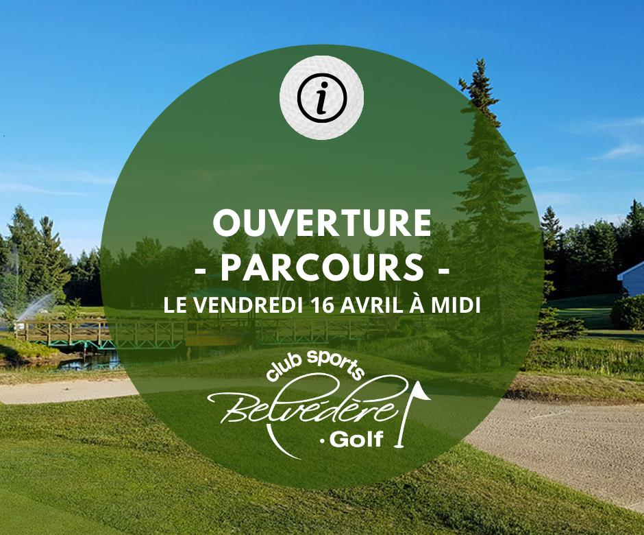 Ouv Parcours - Club Sports Belvédère Golf